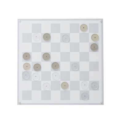Wall Mounted Magnetic Checkers, Gray - Pottery Barn Teen