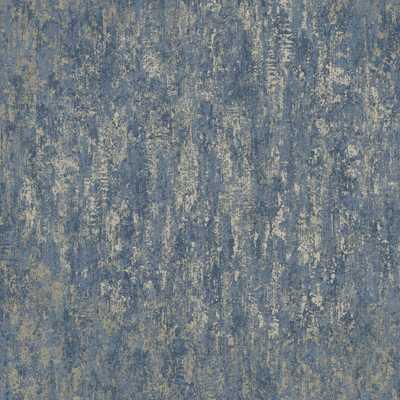 Walls Republic Navy Weathered Metallic Wallpaper / Dry Strippable Wallpaper (Double Roll), Metallic Navy - Home Depot
