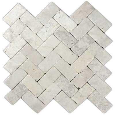 "Cumberland 2"" x 4"" Natural Stone Mosaic Tile in Cream - Birch Lane"