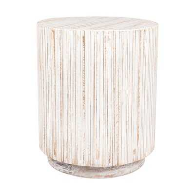 Karle Solid Wood Drum End Table - Wayfair