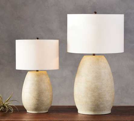 Asher Ceramic Grand Table Lamp Base, Warm Gray - Pottery Barn