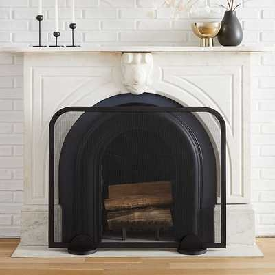 Deco Fireplace Accessories, Screen, Iron, Black, Large - West Elm