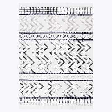Ravine Indoor/Outdoor Rug, 8'x10', Black - West Elm