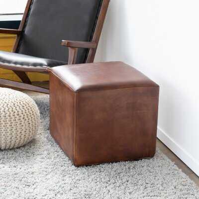Guffey Leather Cube Ottoman - Wayfair