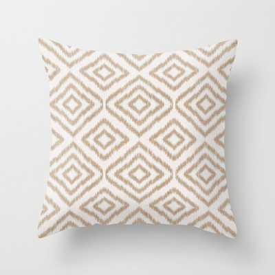 """Sumatra In Tan Couch Throw Pillow by Becky Bailey - Cover (24"""" x 24"""") with pillow insert - Indoor Pillow - Society6"""