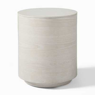 Volume Side Table - Wood, Winterwood - West Elm