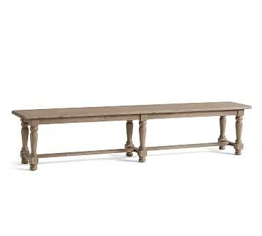 """Normandy Dining Bench, Versaille Gray, 86""""L x 18""""W - Pottery Barn"""
