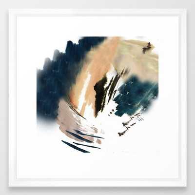 Twilight Wandering - A Watercolor And Ink Abstract Framed Art Print by Alyssa Hamilton Art - Vector White - MEDIUM (Gallery)-22x22 - Society6