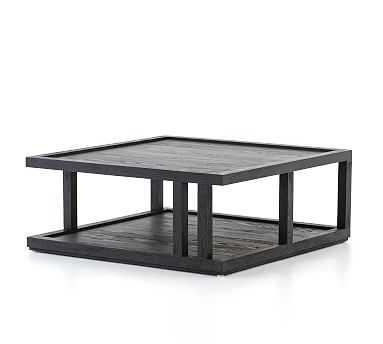 Modern Black Oak Coffee Table - Pottery Barn