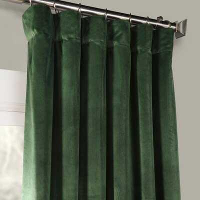 Creola Solid Color Room Darkening Thermal Rod Pocket Single Curtain Panel - AllModern