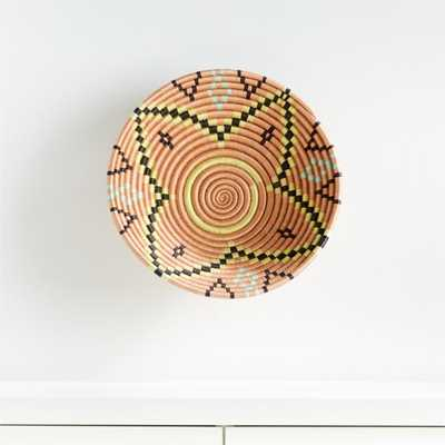 Indego Africa Salmon Plateau Wall Basket - Crate and Barrel