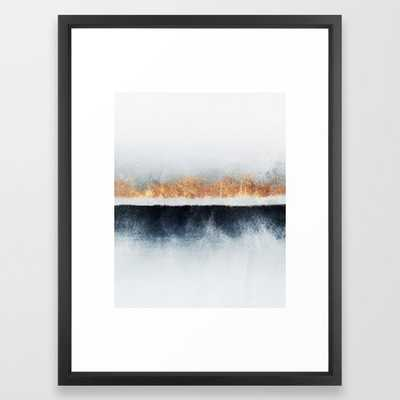 Horizon Framed Art Print by Elisabeth Fredriksson - Vector Black - MEDIUM (Gallery)-20x26 - Society6