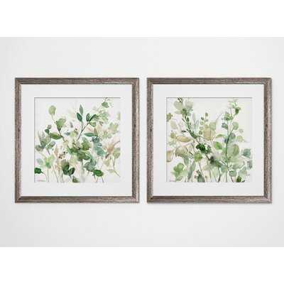 'Sage Garden' - 2 Piece Picture Frame Graphic Art Print Set - Wayfair