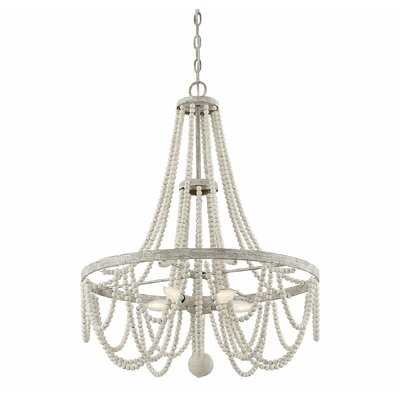 Messerschmidt 5 - Light Statement Empire Chandelier with Beaded Accents - Wayfair