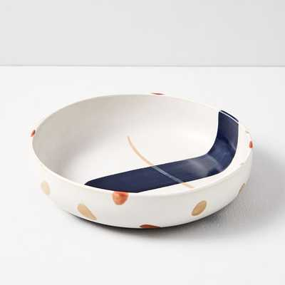 Sway Stoneware Low Bowl, Painted Dots, Set of 4 - West Elm