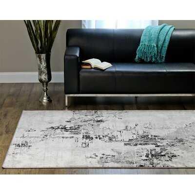 Brittni Abstract Gray Area Rug - Wayfair