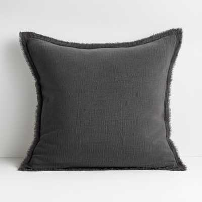 """Olind 23"""" Grey Pillow with Down-Alternative Insert - Crate and Barrel"""