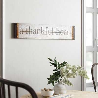 Fawcett Thankful Heart Wall Décor - Birch Lane