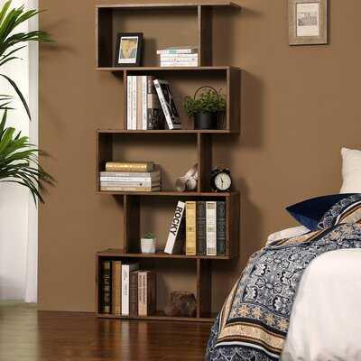 Clarklake Wooden Geometric Bookcase - Wayfair