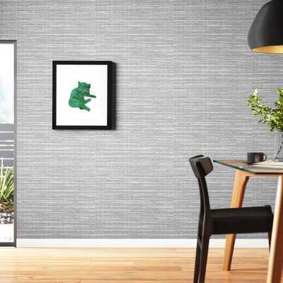 "Tyree Faux Grasscloth 27' L x 27"" W Texture Wallpaper Roll - AllModern"