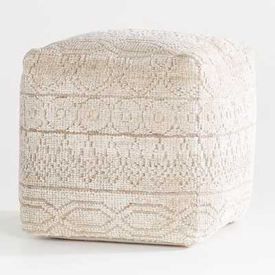 """Lennon Patterned Pouf 18"""" - Crate and Barrel"""
