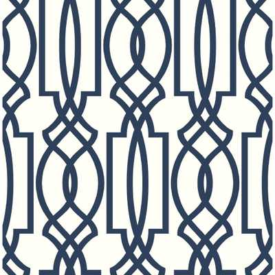 "MANHATTAN COMFORT Jackson 33' x 21"" White Textured and Paintable Wallpaper (Covers 57.75 sq. ft.), Blue - Home Depot"