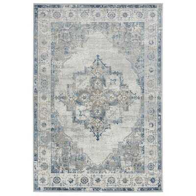 Brantley Oriental Ivory/Light Blue Area Rug - Wayfair