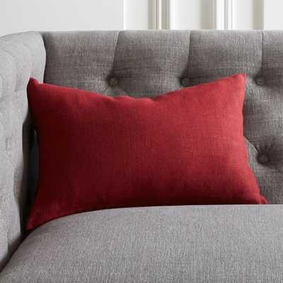 "18""x12"" Linon Cabernet Pillow with Down-Alternative Insert - CB2"