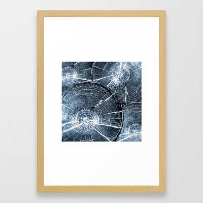 Old Tree Rings Abstract Framed Art Print by Christina Lynn Williams - Conservation Natural - SMALL-15x21 - Society6