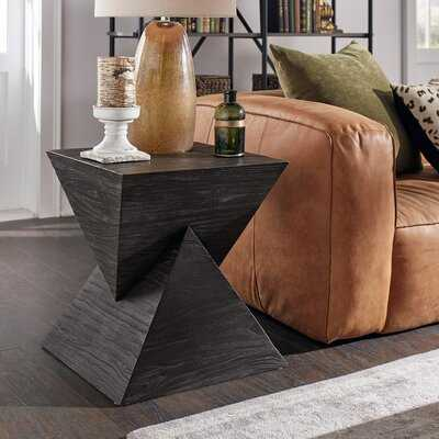 Emington Solid Wood Block End Table - Wayfair