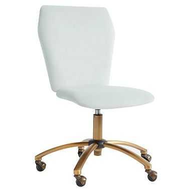 Velvet Airgo Swivel Desk Chair, Performance Everyday Velvet Light Pool - Pottery Barn Teen