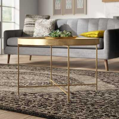 Dishman Metal Foldable Lift Top Cross Legs Coffee Table - Wayfair