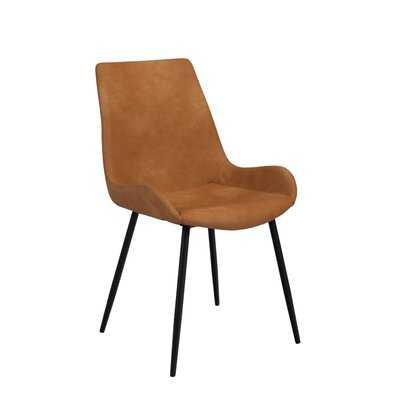 Cao Upholstered Side Chair in Cognac Brown - Wayfair