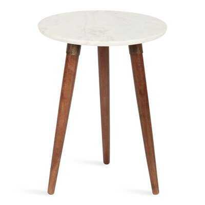Othinkar Marble Top 3 Legs End Table - Wayfair