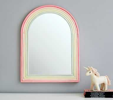 Rainbow Enamel Hanging Mirror - Pottery Barn Kids