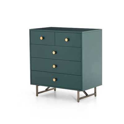 Van 5-Drawer Dresser, Juniper Green - West Elm