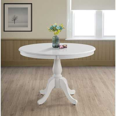 "Bella 42"" Wide Pure White Round Wood Pedestal Dining Table - Style # 87R75 - Lamps Plus"