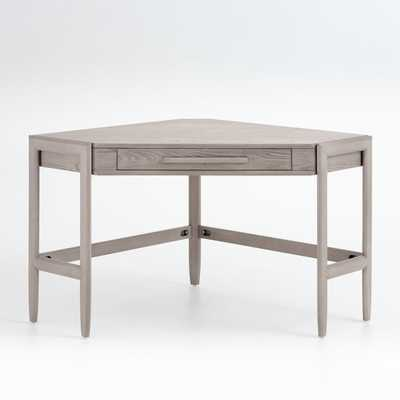 Tate Stone Corner Desk with Power - Crate and Barrel