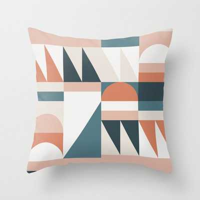 """Cirque 06 Abstract Geometric Couch Throw Pillow by The Old Art Studio - Cover (18"""" x 18"""") with pillow insert - Indoor Pillow - Society6"""
