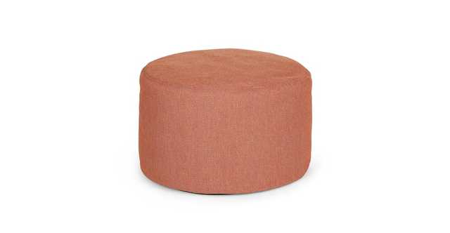 Olara Saffron Red Ottoman - Article