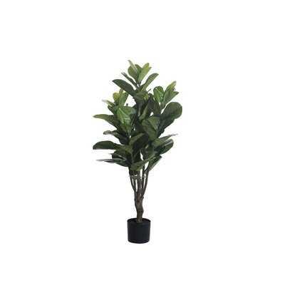 """42"""" Artificial Fiddle Leaf Fig Tree in Pot Liner - Wayfair"""