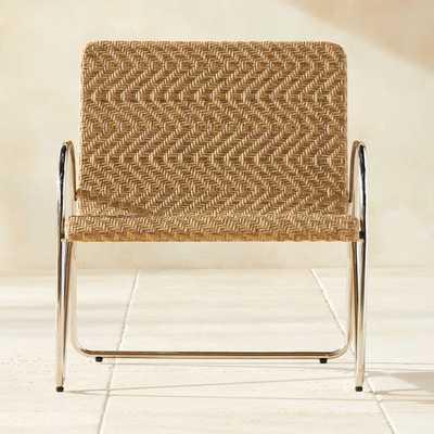 Estela Herringbone Lounge Chair - CB2