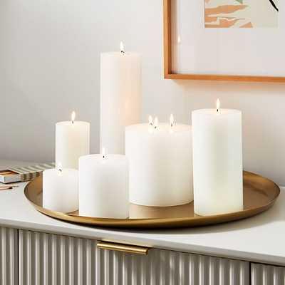 Unscented Candle Votive, Set of 6, White - West Elm