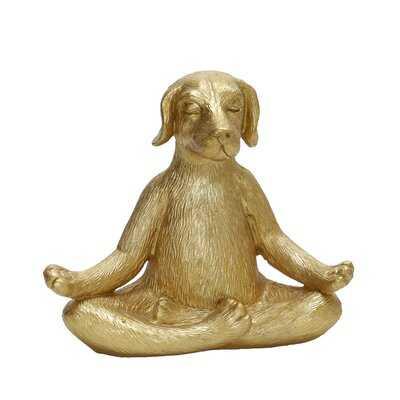 Thawville Yoga Dog Figurine - Wayfair