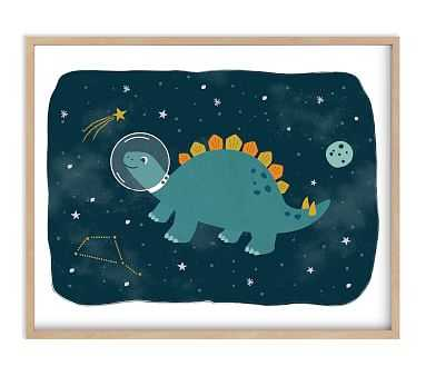 Minted(R) Dinos in Space 2 Wall Art by Annie Holmquist; 16x20, Natural - Pottery Barn Kids