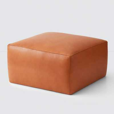 Torres Square Leather Ottoman - Medium & Large By The Citizenry - The Citizenry
