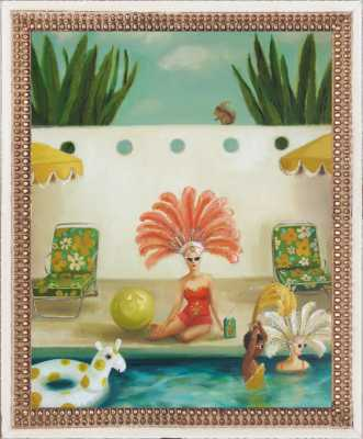 Poolside by Janet Hill for Artfully Walls - Artfully Walls