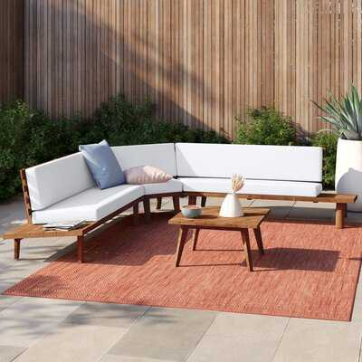 Eaman 4 Piece Sectional Seating Group with Cushions - Wayfair