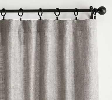 "Basketweave Slub Curtain, 50 x 108"", Ash - Pottery Barn"