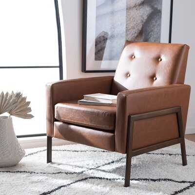 Manriquez 29'' W Tufted Faux Leather Armchair - Wayfair